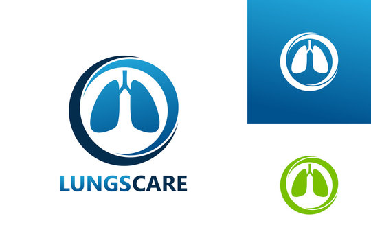 Lungs Care Logo Template Design Vector, Emblem, Design Concept, Creative Symbol, Icon
