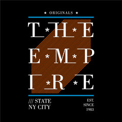 the empire state typography graphic for t shirt urban design and other use, denim vector illustration art