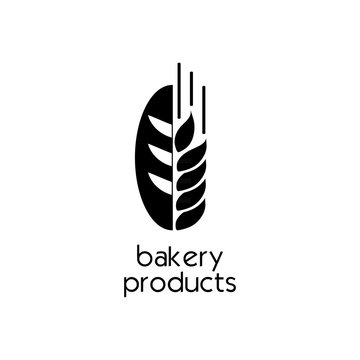 Creative flat bread bakery icon design . Simple Sign or Symbol. Logo Template