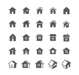 Simple flat high quality vector icon set,Various styles of home, logos, apps, wordpress, safety, security, real estate and more.48x48 Pixel Perfect.