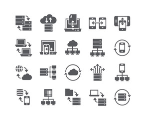 Simple flat high quality vector icon set,Data service-related collections, data backup, data sharing, data connections, data relationships, and more.48x48 Pixel Perfect.