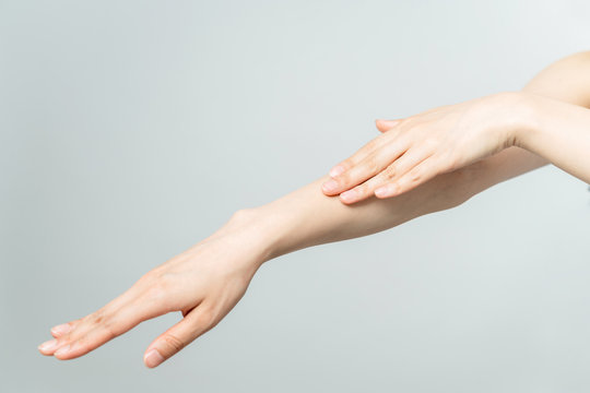 Skin care of hand concept.