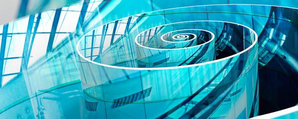 Printed kitchen splashbacks Spiral Spirale 3D