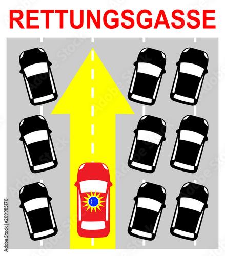 Rettungsgasse Bilden Schild Rettungsgasse Bilden