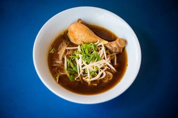 Thai dark broth meat soup