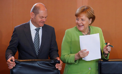 German weekly cabinet meeting at the Chancellery in Berlin