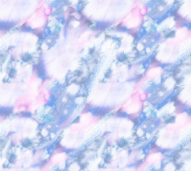Seamless background pattern with light purple, pastel pink and white brush strokes painted in watercolor