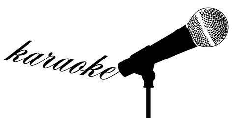 Karaoke Microphone Background