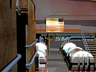 Fabrikhalle mit Kesseln