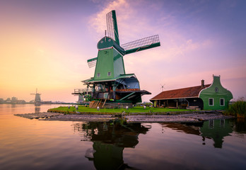 Traditional windmills over at the Zaanse Schans