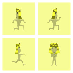 assembly flat illustration mummy halloween monster