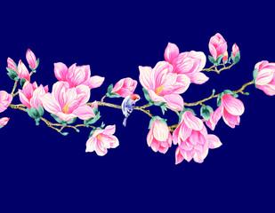 Magnolia flower illustration