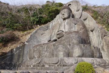 乾坤山、日本寺、大仏、石仏
