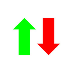 Green Up Arrow, Red Down Arrow icon