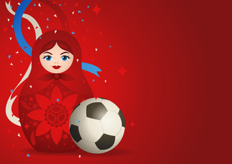 Matryoshka doll with soccer ball