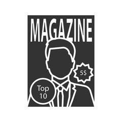 Magazine glyph icon