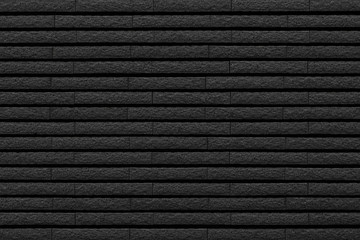 Black stone brick tile wall pattern and background