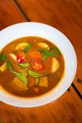 Thai vegan panang curry tofu