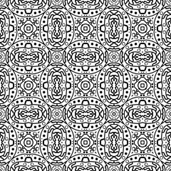 Seamless contour pattern in ethnic style