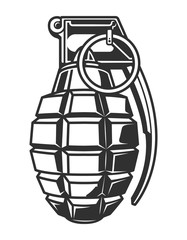 Vintage military hand grenade concept