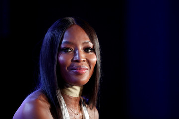 Naomi Campbell attends a conference at the Cannes Lions International Festival of Creativity, in Cannes