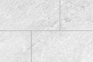 White stone floor tile pattern and seamless background