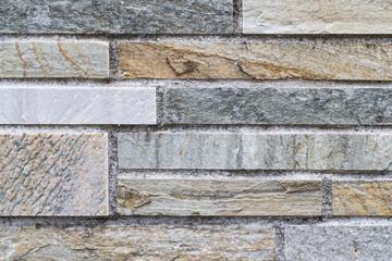 Stone block wall pattern and seamless background