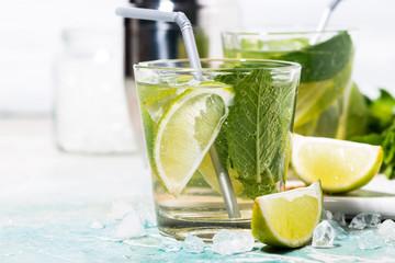 fresh cold mojito cocktail