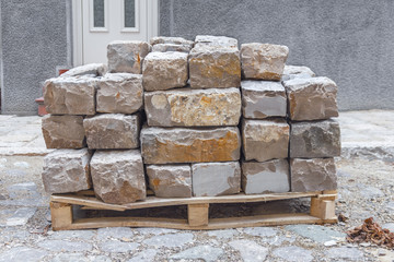 Marble blocks natural industrial construction stone for work
