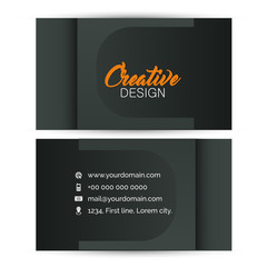 nice and beautiful template design for Business Card or Visiting Card with creative design illustration.