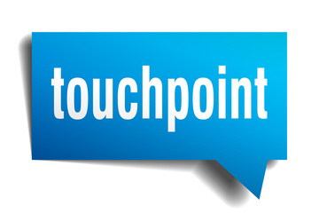 touchpoint blue 3d speech bubble
