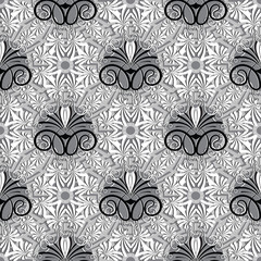Greek floral vector seamless pattern.