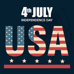 USA independence day poster vector illustration design