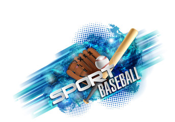 baseball poster with a baseball. Baseball games advertising. Announcement of a sporting event.