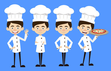 Chef Vector Illustration Design - standing poses