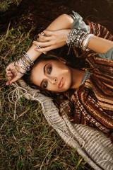 lying hippie girl