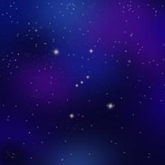 オリオン座と満天の星空