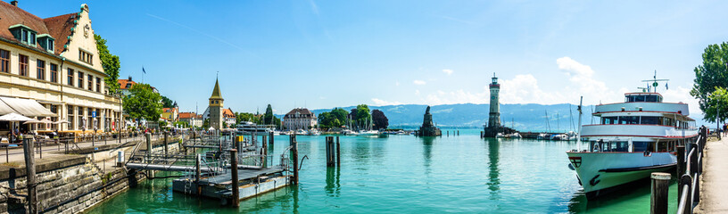 harbor of lindau - germany