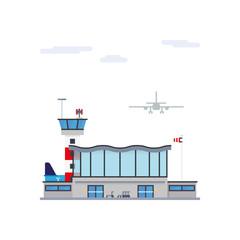 Airport flat design vector illustration