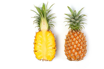 Isolated of pineapple on white background
