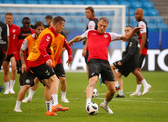 World Cup - Denmark Training