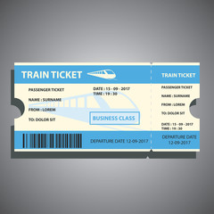 train ticket for traveling by ship. vector illustration