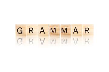 Black grammar word.