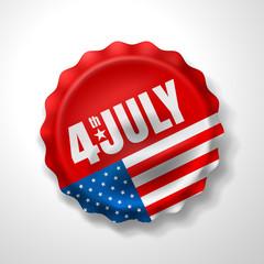 4th of July.USA independence day celebration.Vector illustration EPS 10