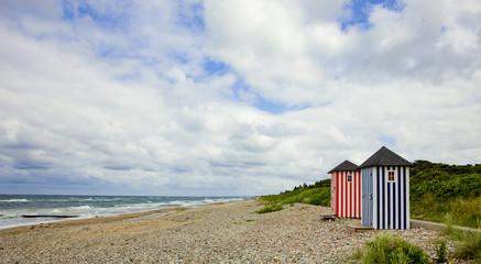 Badehäuschen in Dänemark