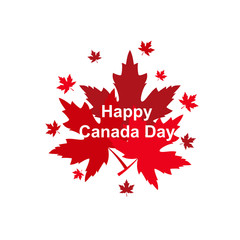 Happy Canada Day poster. 1st july