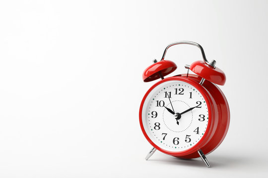 Alarm clock on white background. Time concept