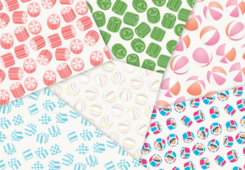 キャンディー、和飴模様のセット