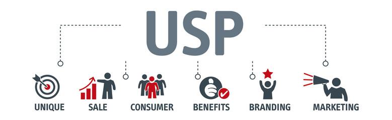Banner unique selling proposition concept