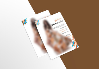 Business Flyer Layout with Colorful Rounded Elements